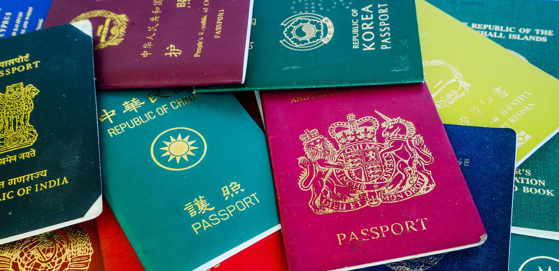 passaporti vari